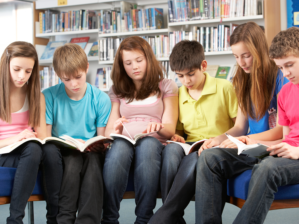 Students Reading at the Library